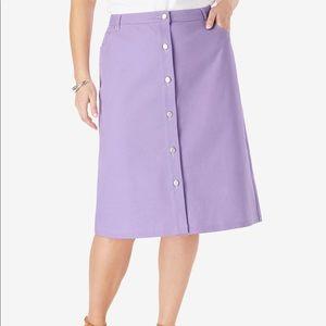 Jessica London NWOT True Fit Denim Skirt, 16W